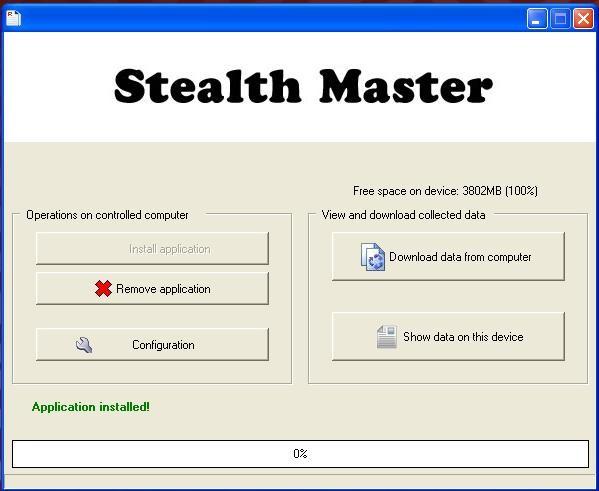 StealthMaster's Menystruktur